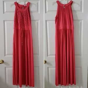 Lace Halter Maxi Dress